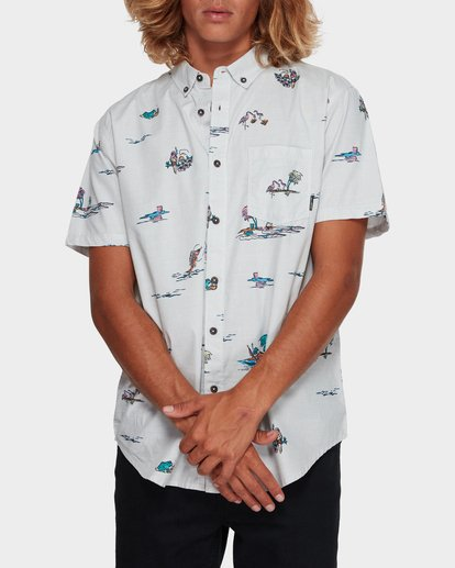 0 SUNDAYS MINI SHORT SLEEVE SHIRT White 9591210 Billabong