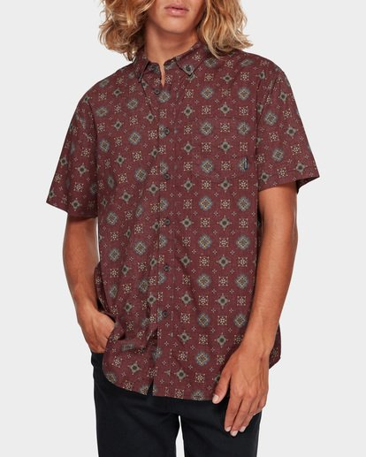 1 SUNDAYS MINI SHORT SLEEVE SHIRT Red 9591210 Billabong
