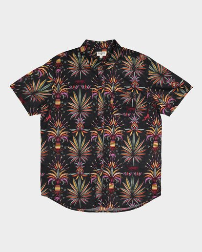 4 SUNDAYS FLORAL SHORT SLEEVE SHIRT Black 9591211 Billabong
