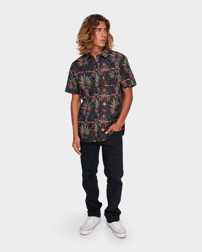 5 SUNDAYS FLORAL SHORT SLEEVE SHIRT Black 9591211 Billabong