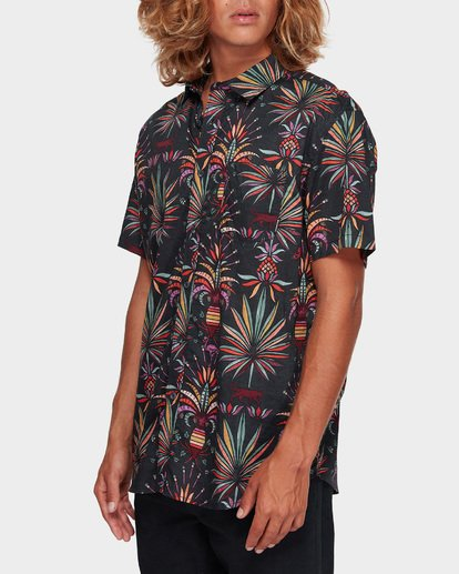 2 SUNDAYS FLORAL SHORT SLEEVE SHIRT Black 9591211 Billabong