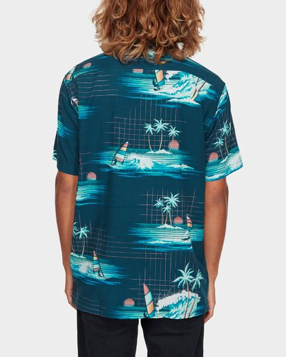 3 VACAY PRINT SHORT SLEEVE SHIRT Blue 9591212 Billabong
