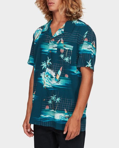 2 VACAY PRINT SHORT SLEEVE SHIRT Blue 9591212 Billabong