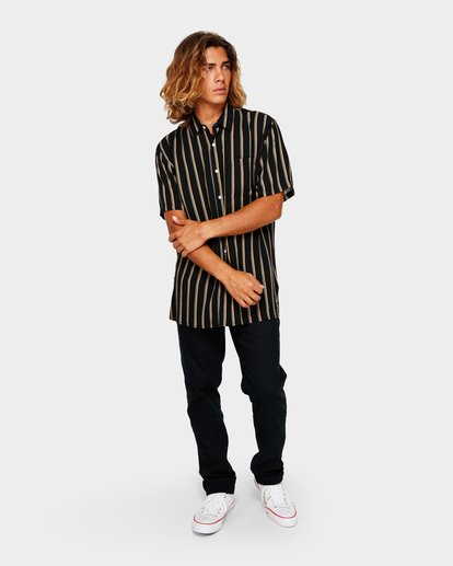 5 SUNDAYS STRIPE SHIRT Black 9591216 Billabong