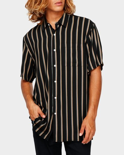 0 SUNDAYS STRIPE SHIRT Black 9591216 Billabong