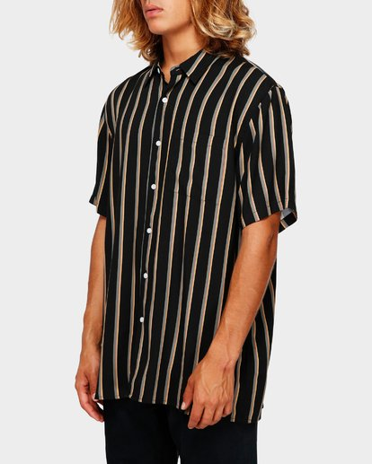 2 SUNDAYS STRIPE SHIRT Black 9591216 Billabong