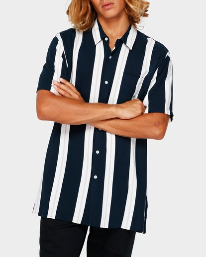 1 SUNDAYS STRIPE SHIRT Blue 9591216 Billabong