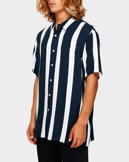2 SUNDAYS STRIPE SHIRT Blue 9591216 Billabong