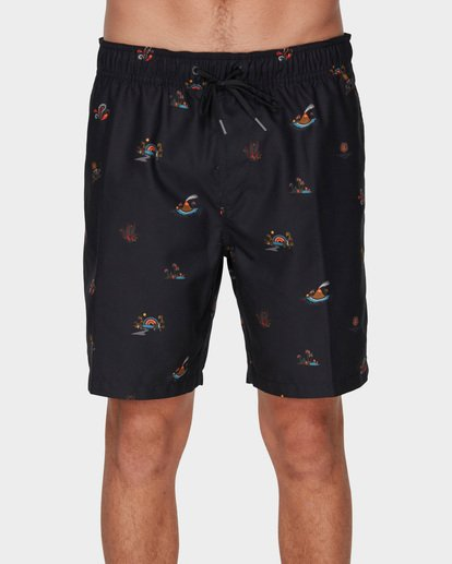 2 SUNDAYS LAYBACK BOARDSHORTS Black 9591418 Billabong