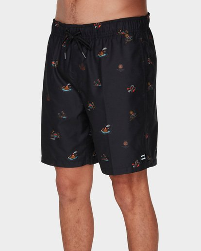 3 SUNDAYS LAYBACK BOARDSHORTS Black 9591418 Billabong