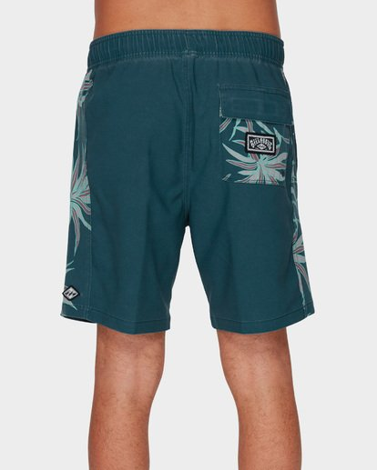 4 D Bah Layback Boardshorts Blue 9591419 Billabong