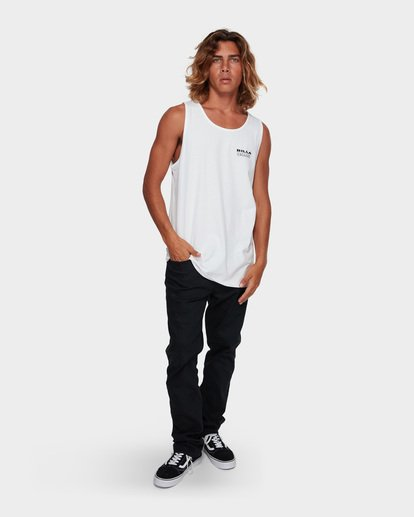 6 Under Cut Tank White 9591502 Billabong
