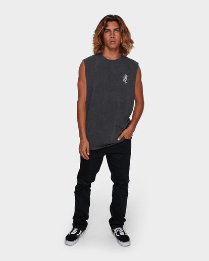 6 DONT PUMA ME MUSCLE TANK Black 9591508 Billabong