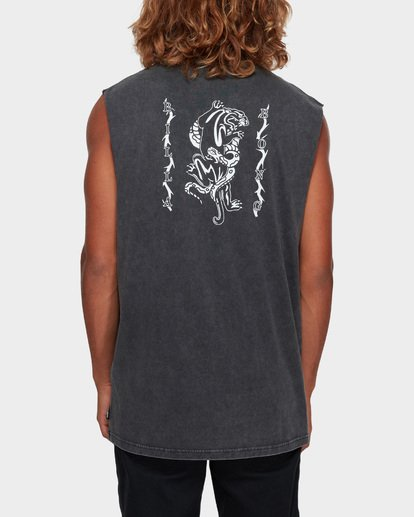 3 DONT PUMA ME MUSCLE TANK Black 9591508 Billabong