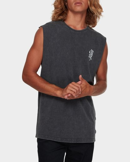 1 DONT PUMA ME MUSCLE TANK Black 9591508 Billabong