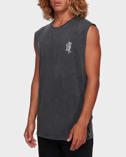 2 DONT PUMA ME MUSCLE TANK Black 9591508 Billabong