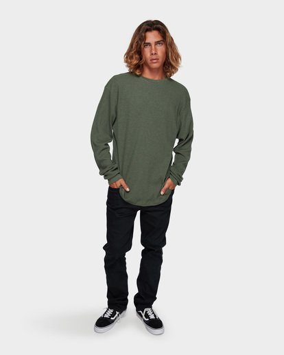 5 Essential Thermal Tee Green 9591601 Billabong