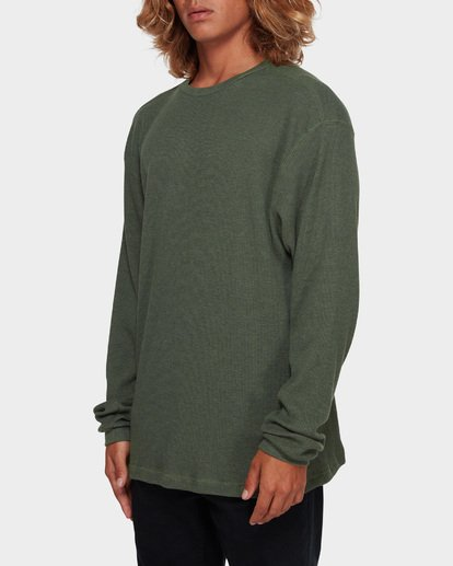 2 ESSENTIAL THERMAL TEE Green 9591601 Billabong