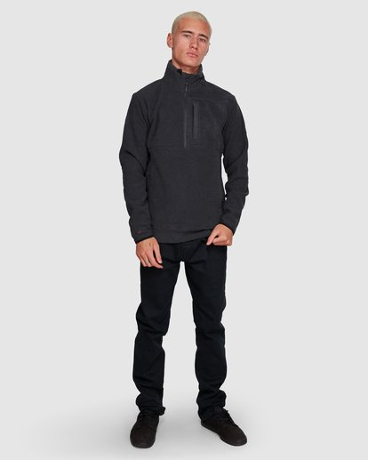 7 BOUNDARY MOCK HALF ZIP HOODIE Black 9591610X Billabong