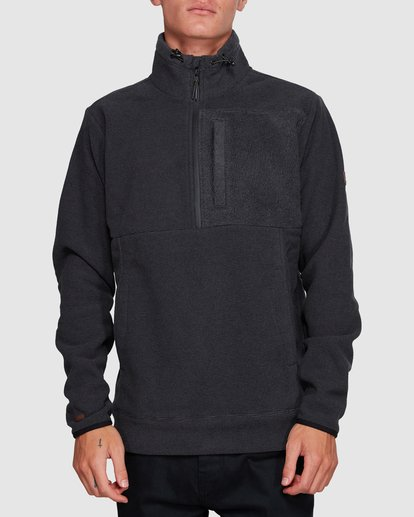 0 BOUNDARY MOCK HALF ZIP HOODIE Black 9591610X Billabong
