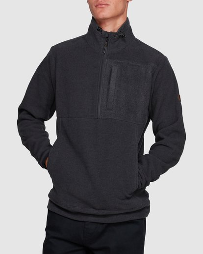 1 BOUNDARY MOCK HALF ZIP HOODIE Black 9591610X Billabong