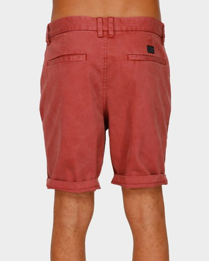 4 NEW ORDER WAVE WASH WALKSHORTS Red 9591713 Billabong