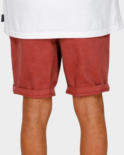 7 NEW ORDER WAVE WASH WALKSHORTS Red 9591713 Billabong