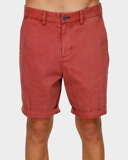 2 NEW ORDER WAVE WASH WALKSHORTS Red 9591713 Billabong