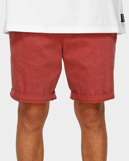 5 NEW ORDER WAVE WASH WALKSHORTS Red 9591713 Billabong
