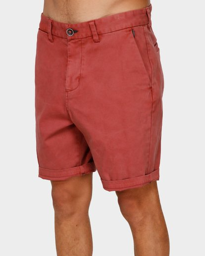 3 NEW ORDER WAVE WASH WALKSHORTS Red 9591713 Billabong
