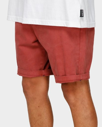 6 NEW ORDER WAVE WASH WALKSHORTS Red 9591713 Billabong