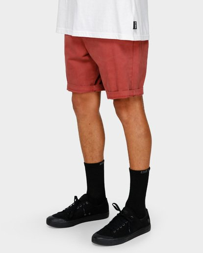 9 NEW ORDER WAVE WASH WALKSHORTS Red 9591713 Billabong
