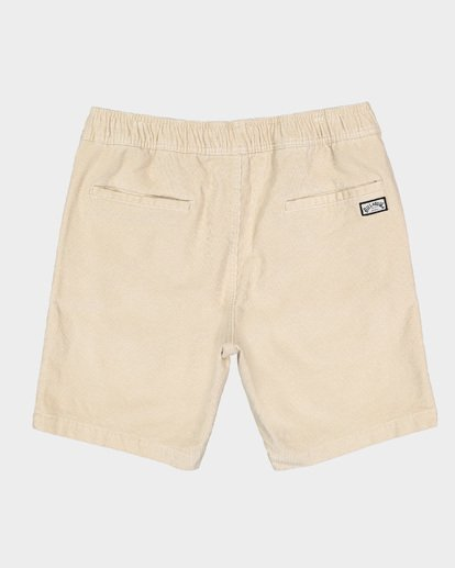 1 LARRY LAYBACK CORD WALKSHORTS Beige 9591716 Billabong