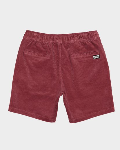 1 LARRY LAYBACK CORD WALKSHORTS Pink 9591716 Billabong
