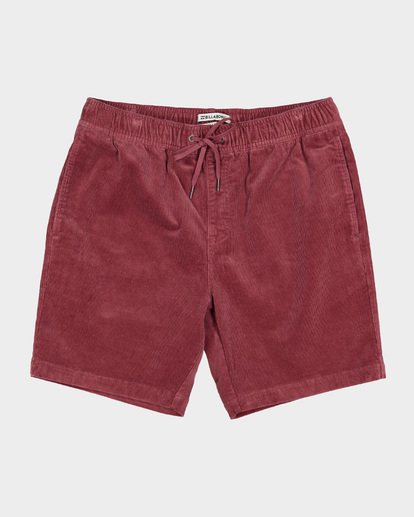 0 LARRY LAYBACK CORD WALKSHORTS Pink 9591716 Billabong