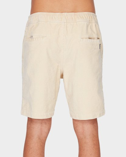 4 LARRY LAYBACK CORD WALKSHORTS Beige 9591716 Billabong