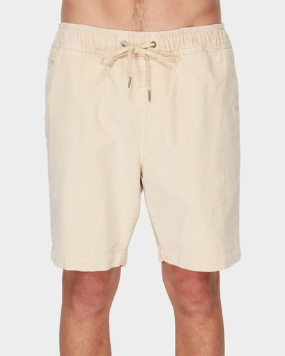 2 LARRY LAYBACK CORD WALKSHORTS Beige 9591716 Billabong
