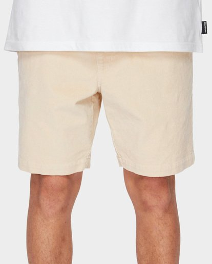 5 LARRY LAYBACK CORD WALKSHORTS Beige 9591716 Billabong