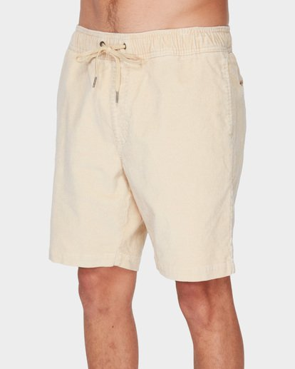 3 LARRY LAYBACK CORD WALKSHORTS Beige 9591716 Billabong