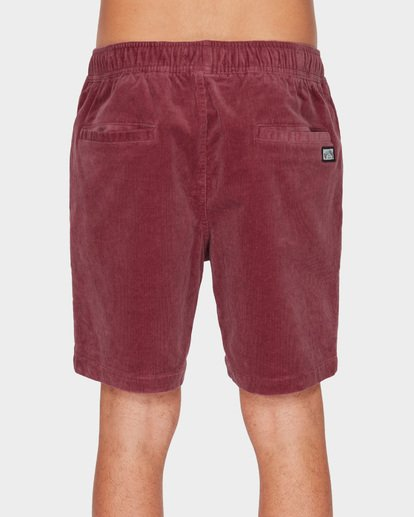 4 LARRY LAYBACK CORD WALKSHORTS Pink 9591716 Billabong