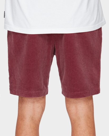 7 LARRY LAYBACK CORD WALKSHORTS Pink 9591716 Billabong