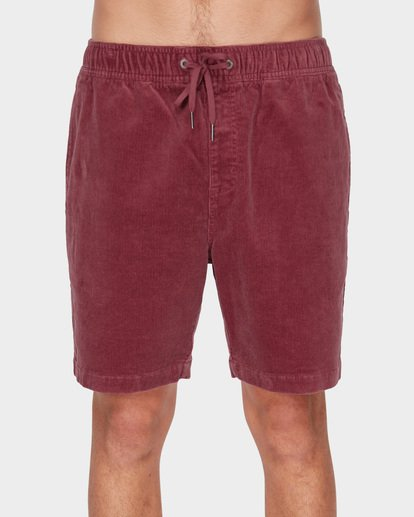 2 LARRY LAYBACK CORD WALKSHORTS Pink 9591716 Billabong