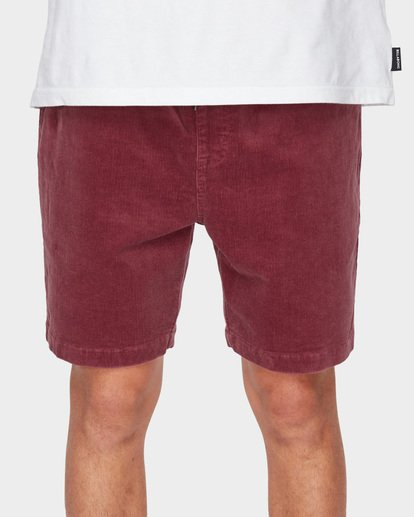 5 LARRY LAYBACK CORD WALKSHORTS Pink 9591716 Billabong