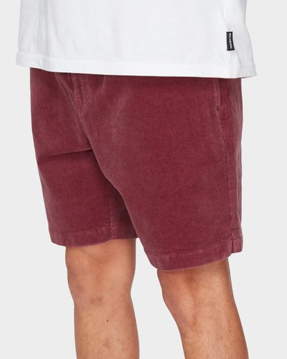 6 LARRY LAYBACK CORD WALKSHORTS Pink 9591716 Billabong