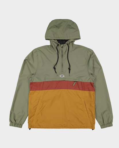 4 Wind Swell Anorak Jacket Green 9591901 Billabong