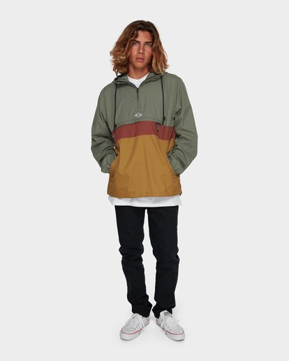 6 Wind Swell Anorak Jacket Green 9591901 Billabong