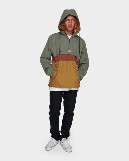 7 Wind Swell Anorak Jacket Green 9591901 Billabong