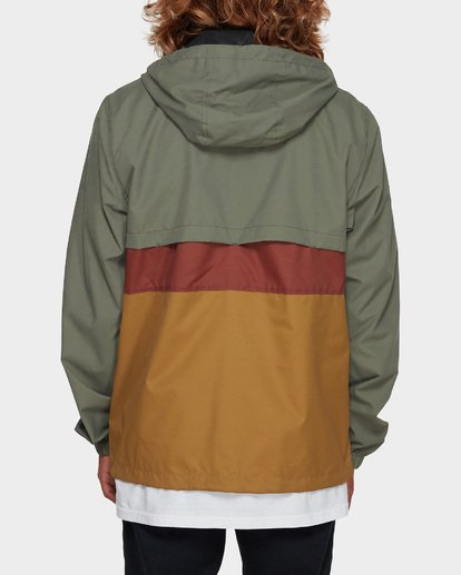 3 Wind Swell Anorak Jacket Green 9591901 Billabong