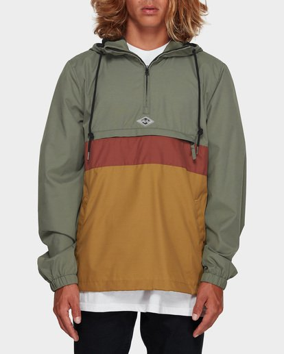 0 Wind Swell Anorak Jacket Green 9591901 Billabong
