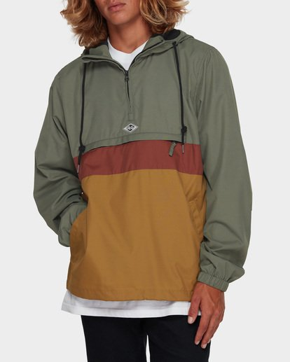 1 Wind Swell Anorak Jacket Green 9591901 Billabong